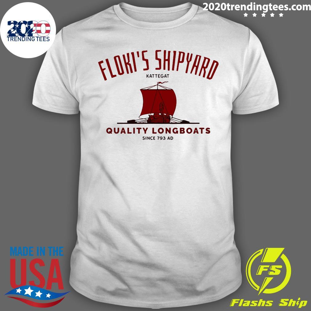 Floki's Shipyard Kattegat Quality Longboats Shirt