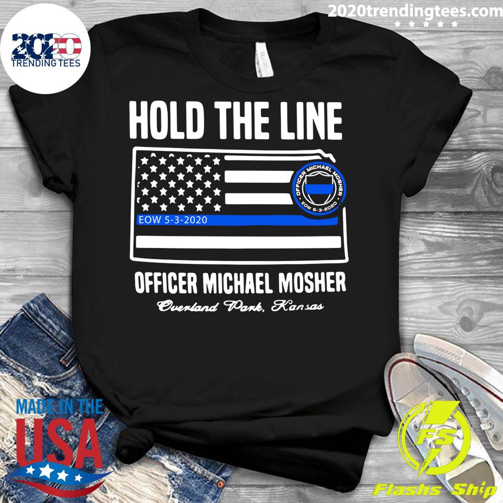 Hold The Line Officer Michael Mosher Shirt Ladies tee