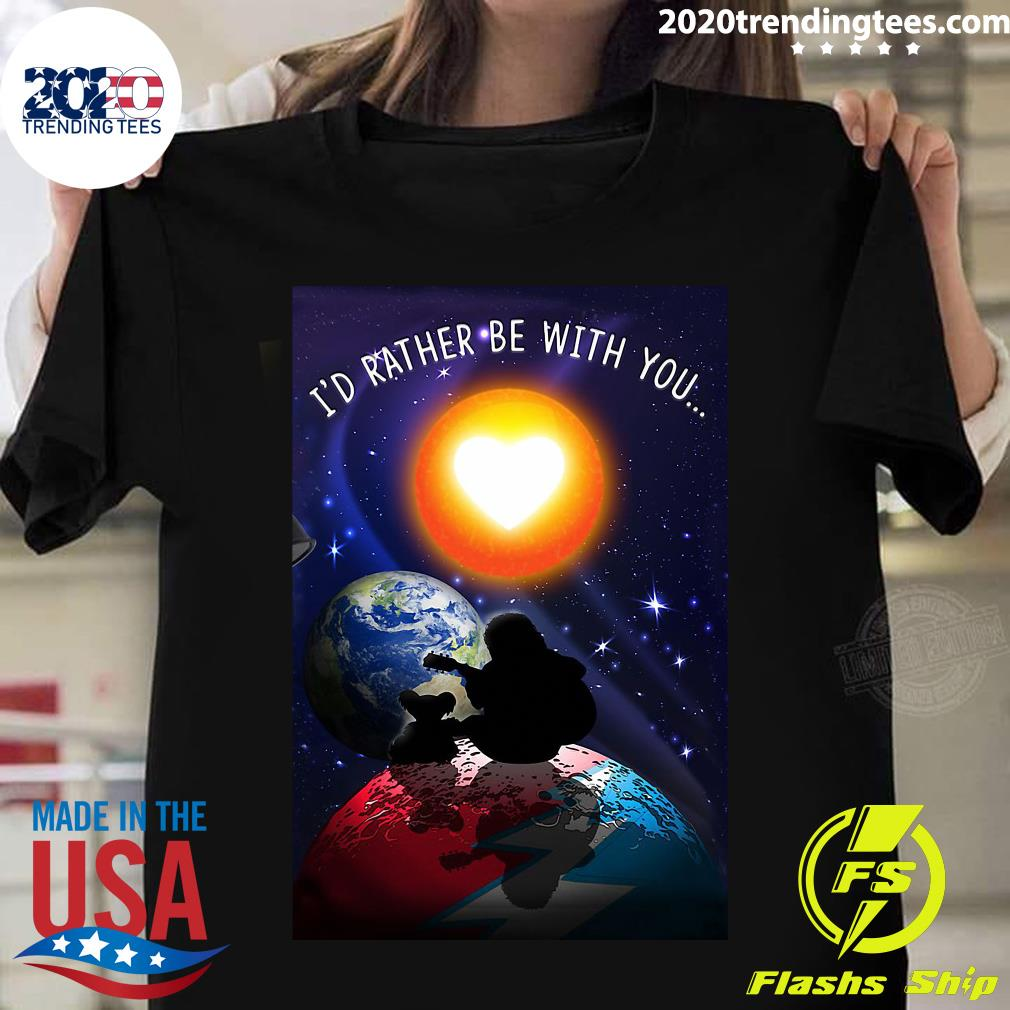 Jerry Garcia I'd Rather Be With You Shirt
