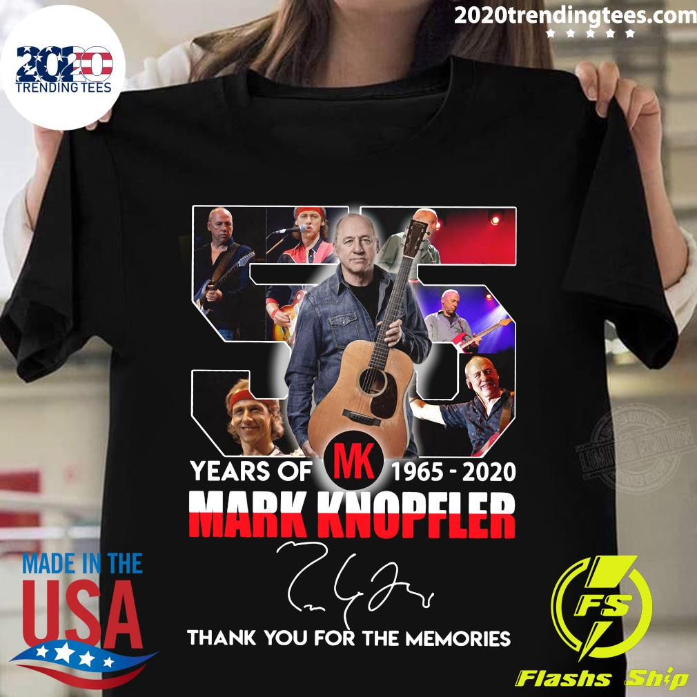 Mark Knopfler Years Of MK 1965 2020 Thank You For The Memories Shirt