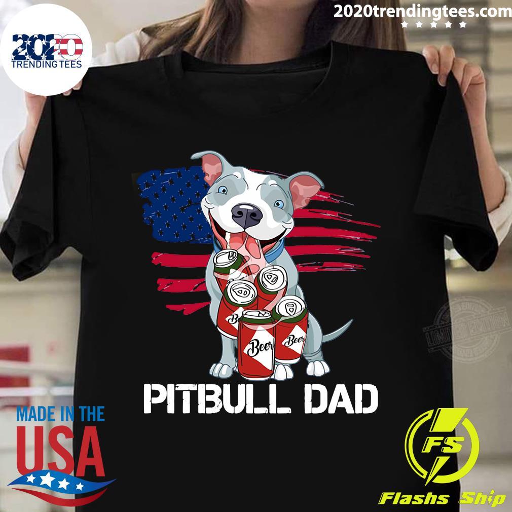 Pitbull Dad Beer Shirt