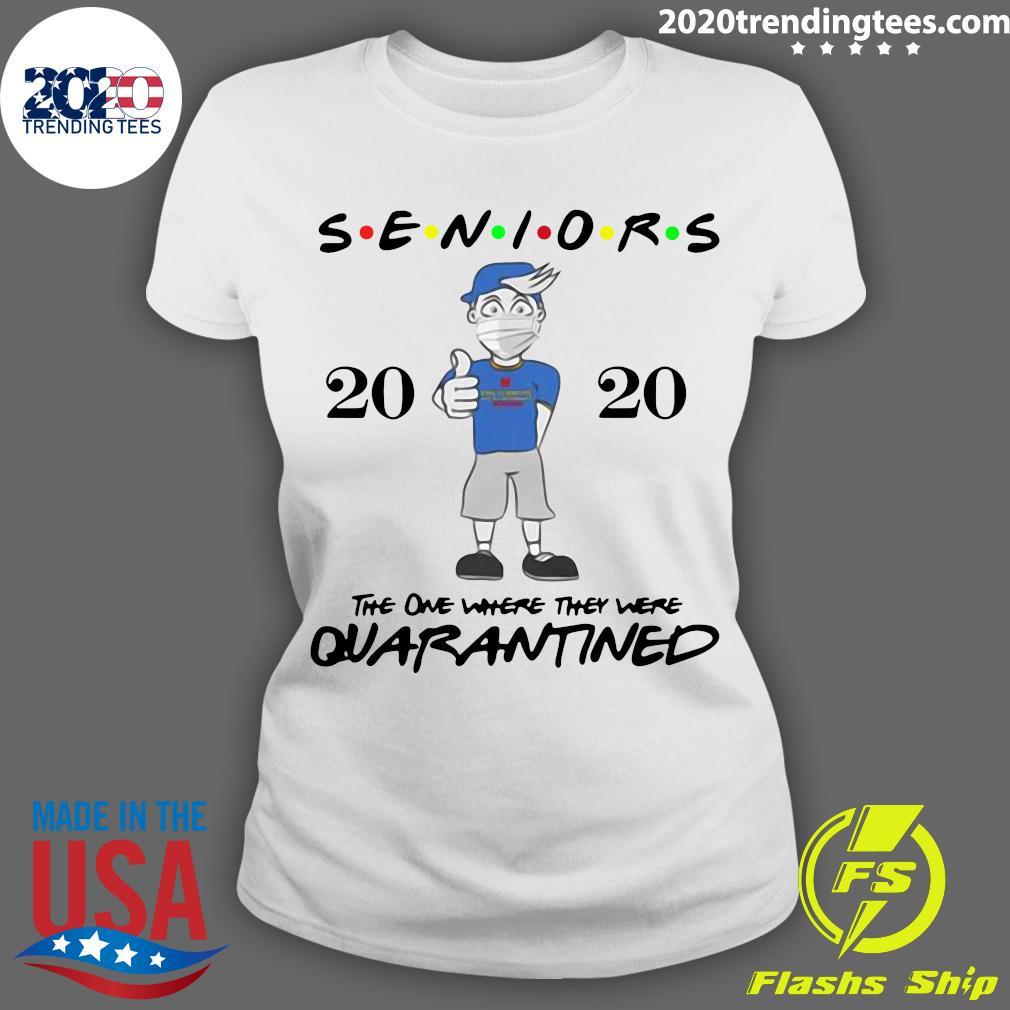 Seniors Class Of 2020 Quarantine Graduation Gift And Keepsake Shirt Ladies tee