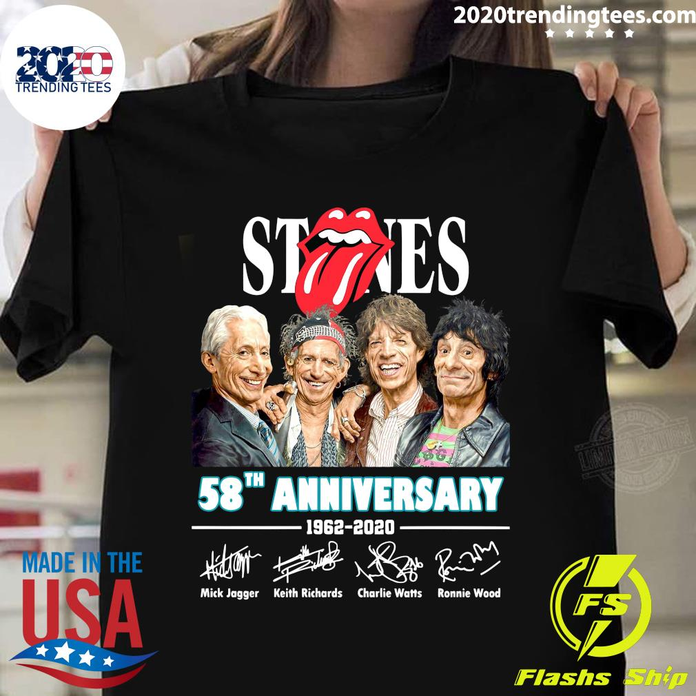 The Rolling Stones 58th Anniversary 1962-2020 Signatures Shirt