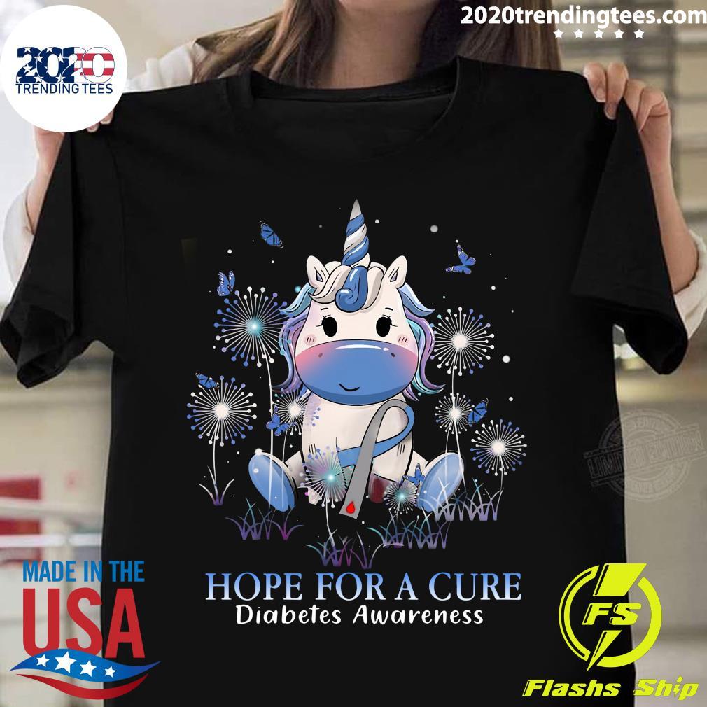 Unicorn Hope For A Cure Diabetes Awareness Shirt