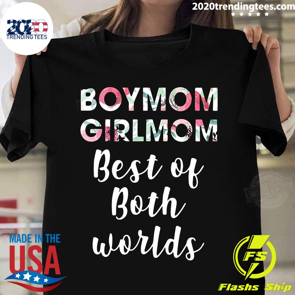 Vintage Boy Mom Girl Mom Best Of Both Worlds Shirt