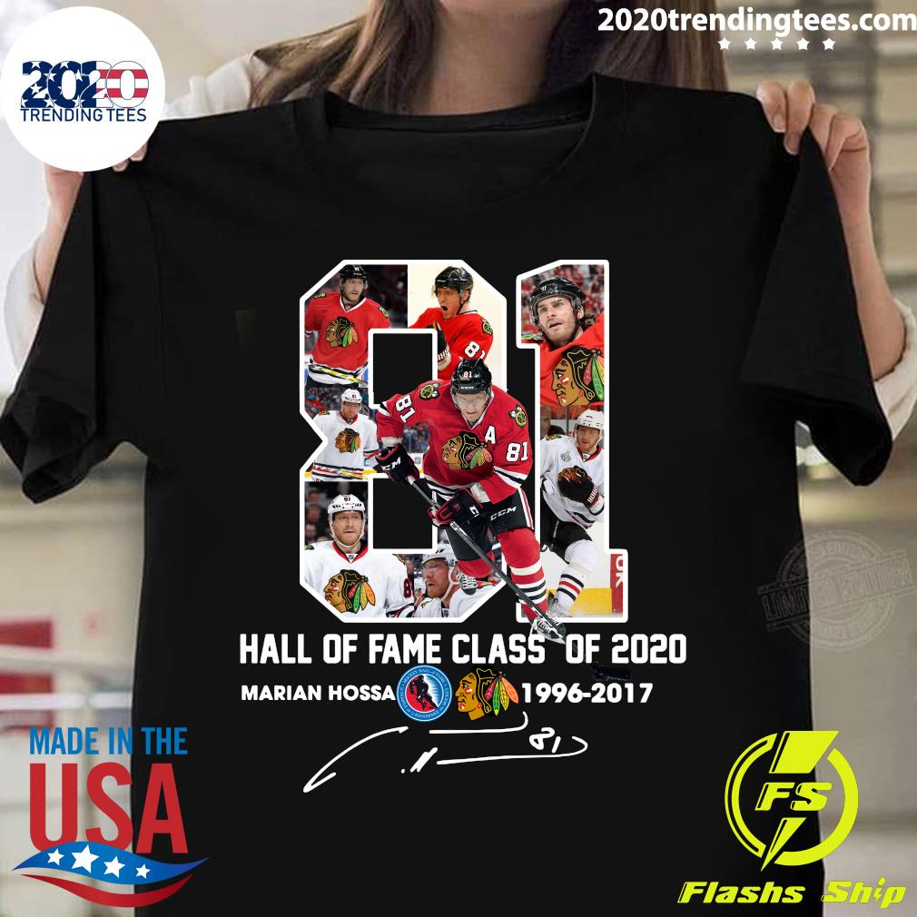 81 Hall Of Fame Class Of 2020 Marian Hossa Washington Redskins 1996 2017 Signature Shirt