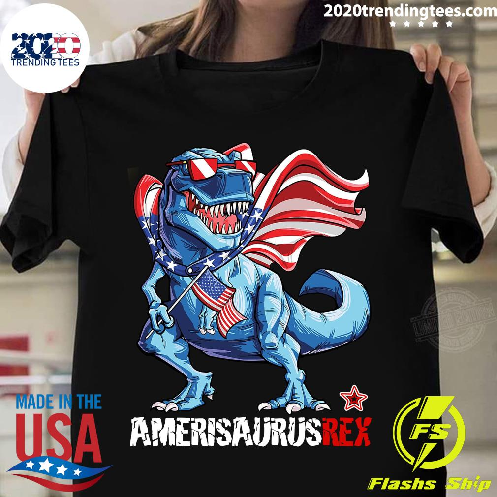 Amerisaurus Rex Happy Independence Day Shirt