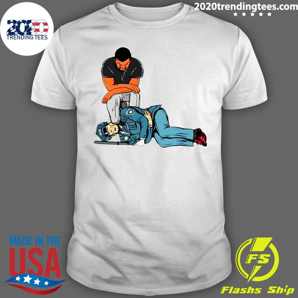George Floyd Killing Police Stomach Ache Boy Stock Shirt