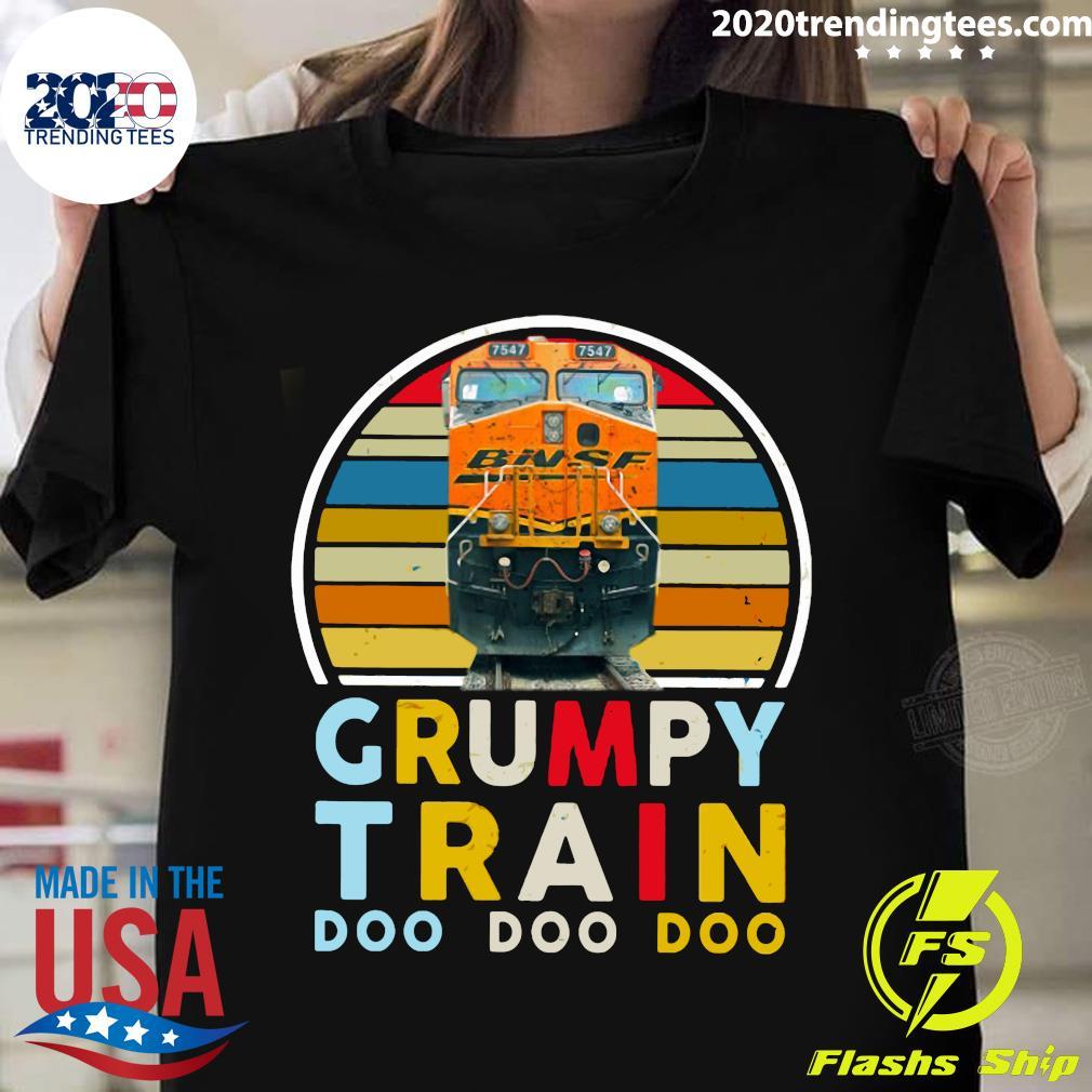 Grumpy Train Bnsf Doo Doo Doo Shirt