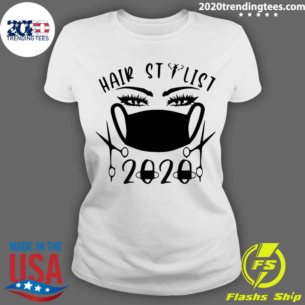 Hair Stylist 2020 Black Shirt Ladies tee