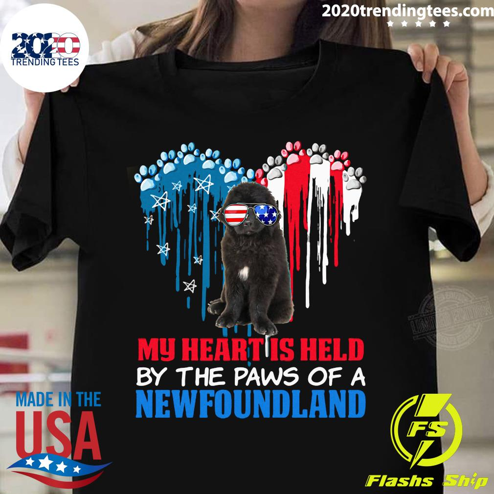 Heart Paw America My Heart Is Held By The Paws Of A Newfoundland
