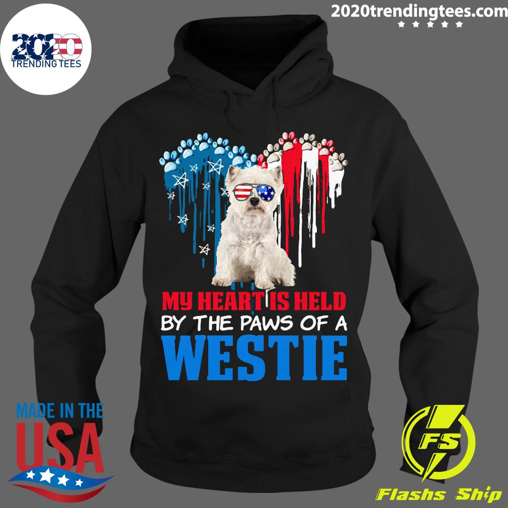 Heart Paw America My Heart Is Held By The Paws Of A Toy Westie Shirt Hoodie
