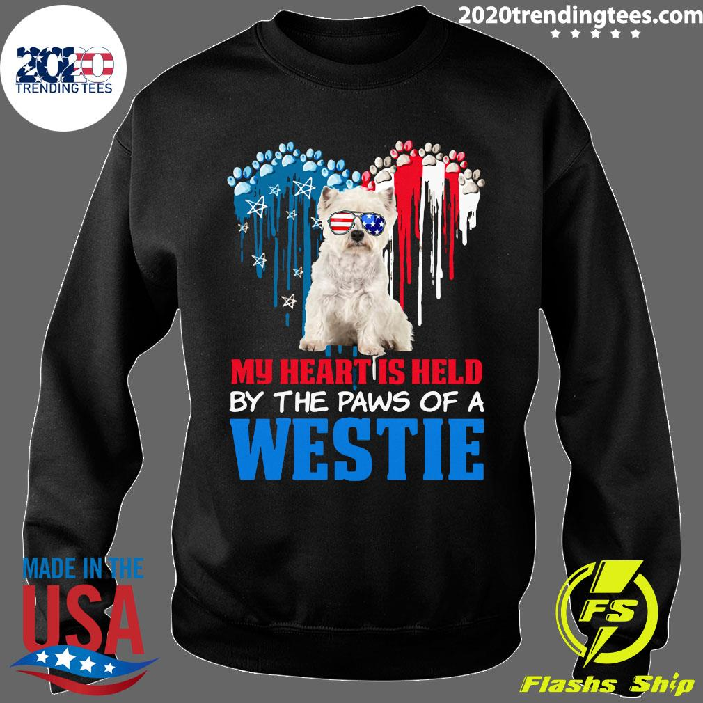 Heart Paw America My Heart Is Held By The Paws Of A Toy Westie Shirt Sweater
