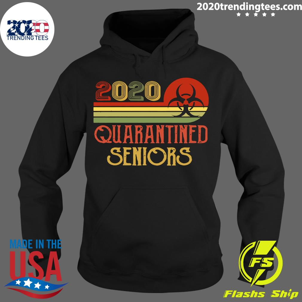 Official Class Of 2020 Senior Quarantine Graduation Vintage Shirt Hoodie