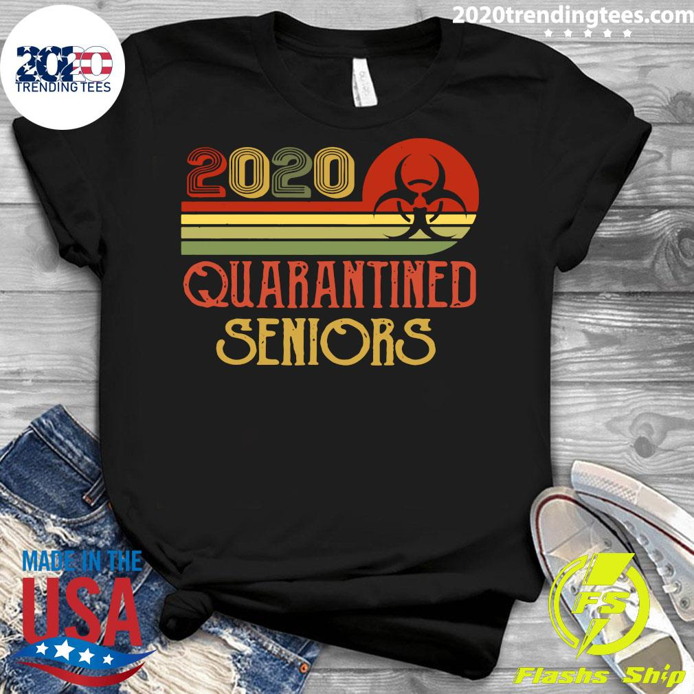 Official Class Of 2020 Senior Quarantine Graduation Vintage Shirt Ladies tee