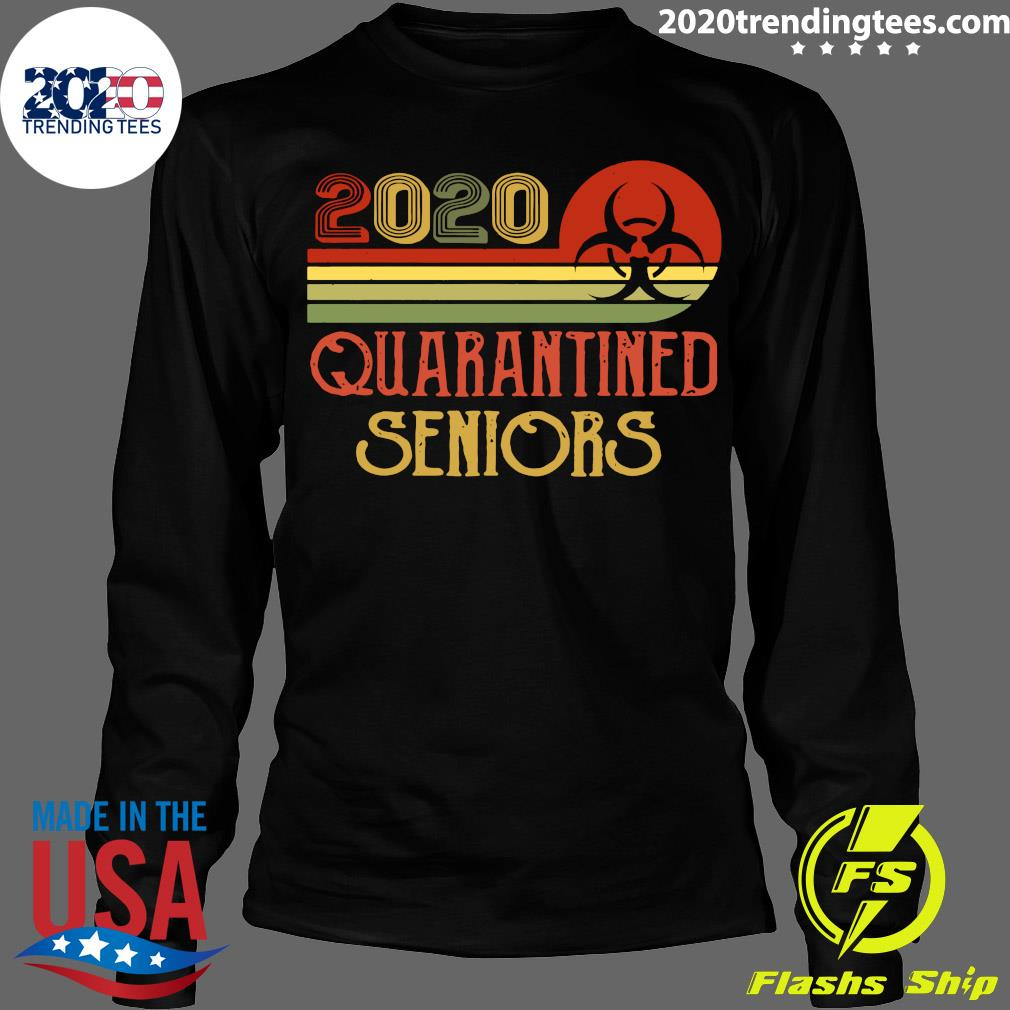 Official Class Of 2020 Senior Quarantine Graduation Vintage Shirt Longsleeve