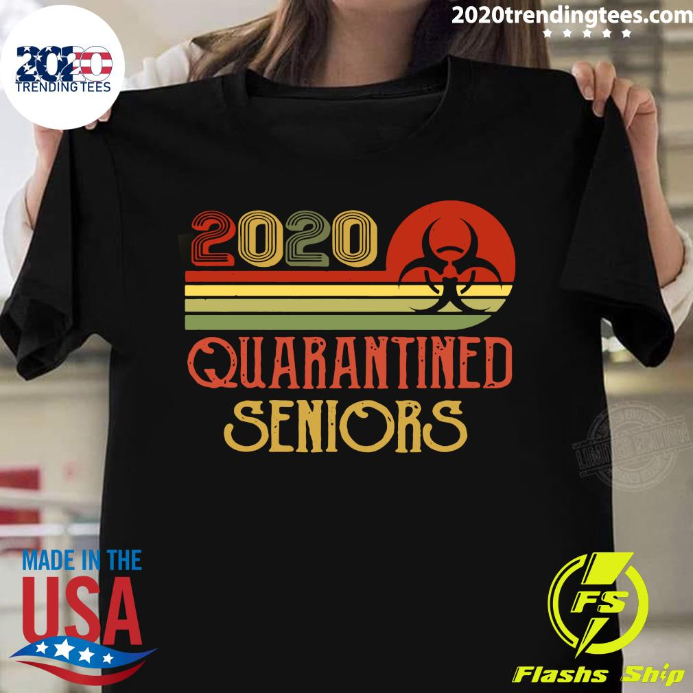 Official Class Of 2020 Senior Quarantine Graduation Vintage Shirt