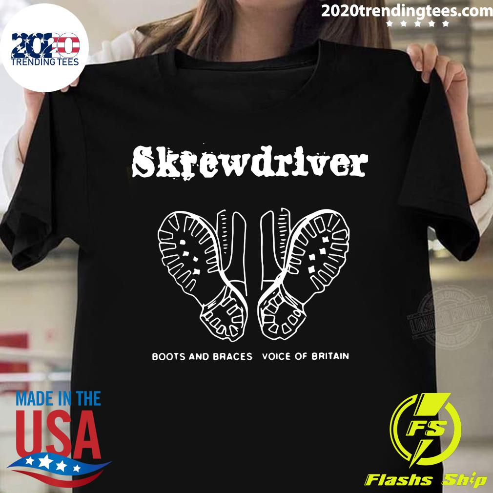 Skrewdriver Boots And Braces Voice Of Britain Shirt