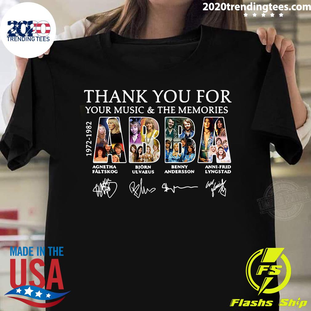 Thank You For Your Music And The Memories ABBA 1972 1982 Shirt