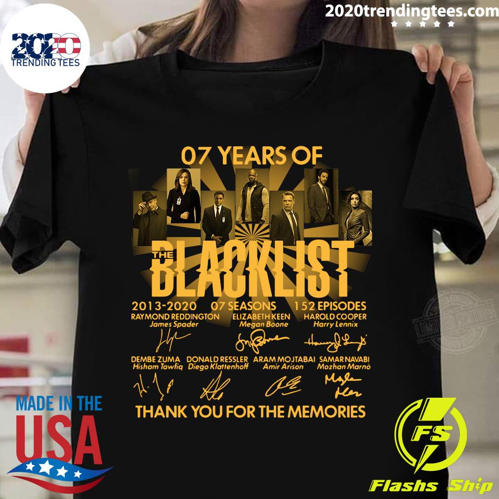 07 Years Of The Blacklist Thank You For The Memories Shirt