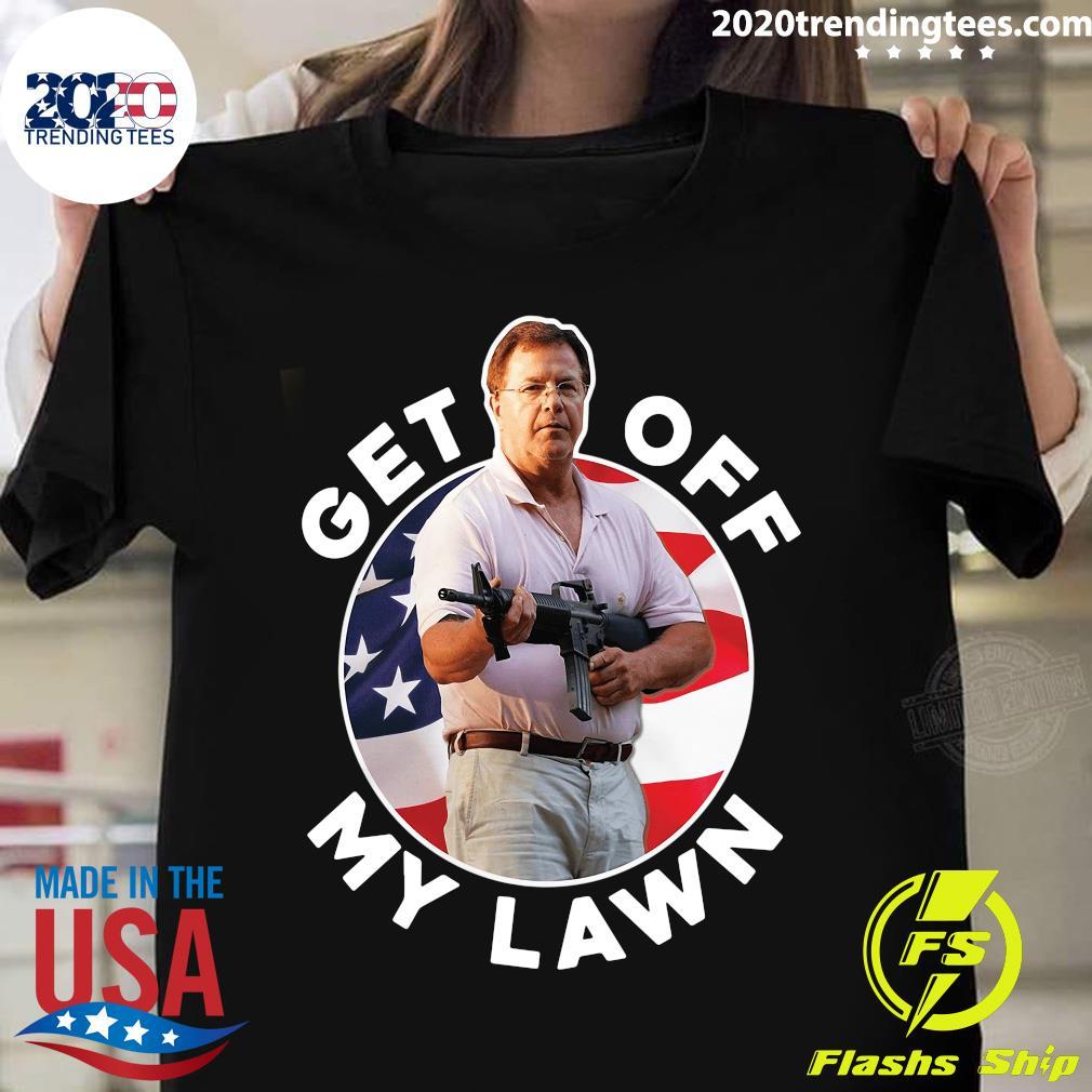 American Flag Get Off My Lawn Shirt