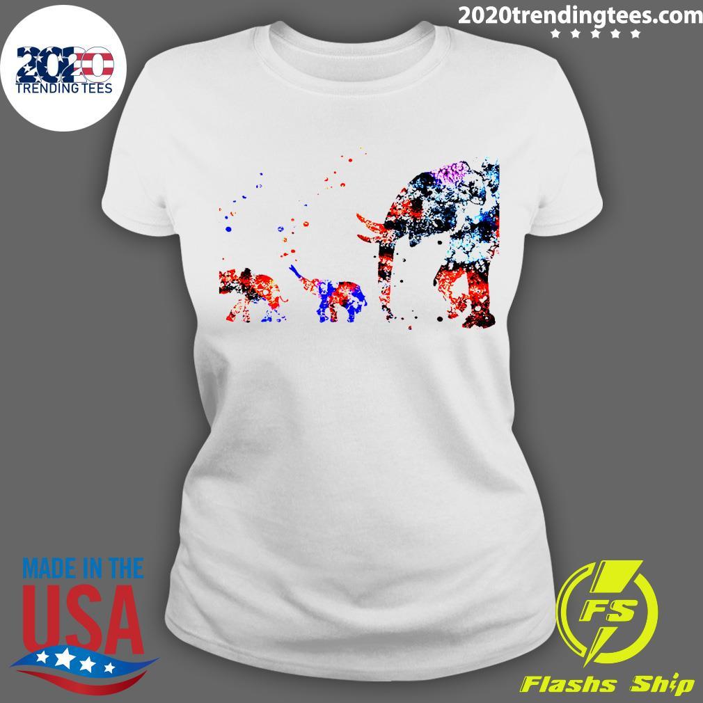 Baby Elephant Mother Shirt Ladies tee