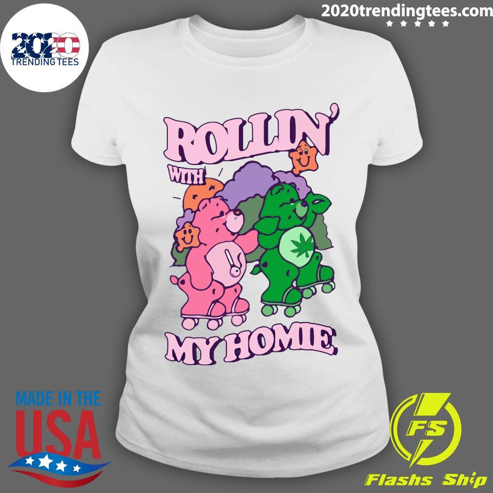 Casual Care Bear Rollin' With My Homie Shirt Ladies tee