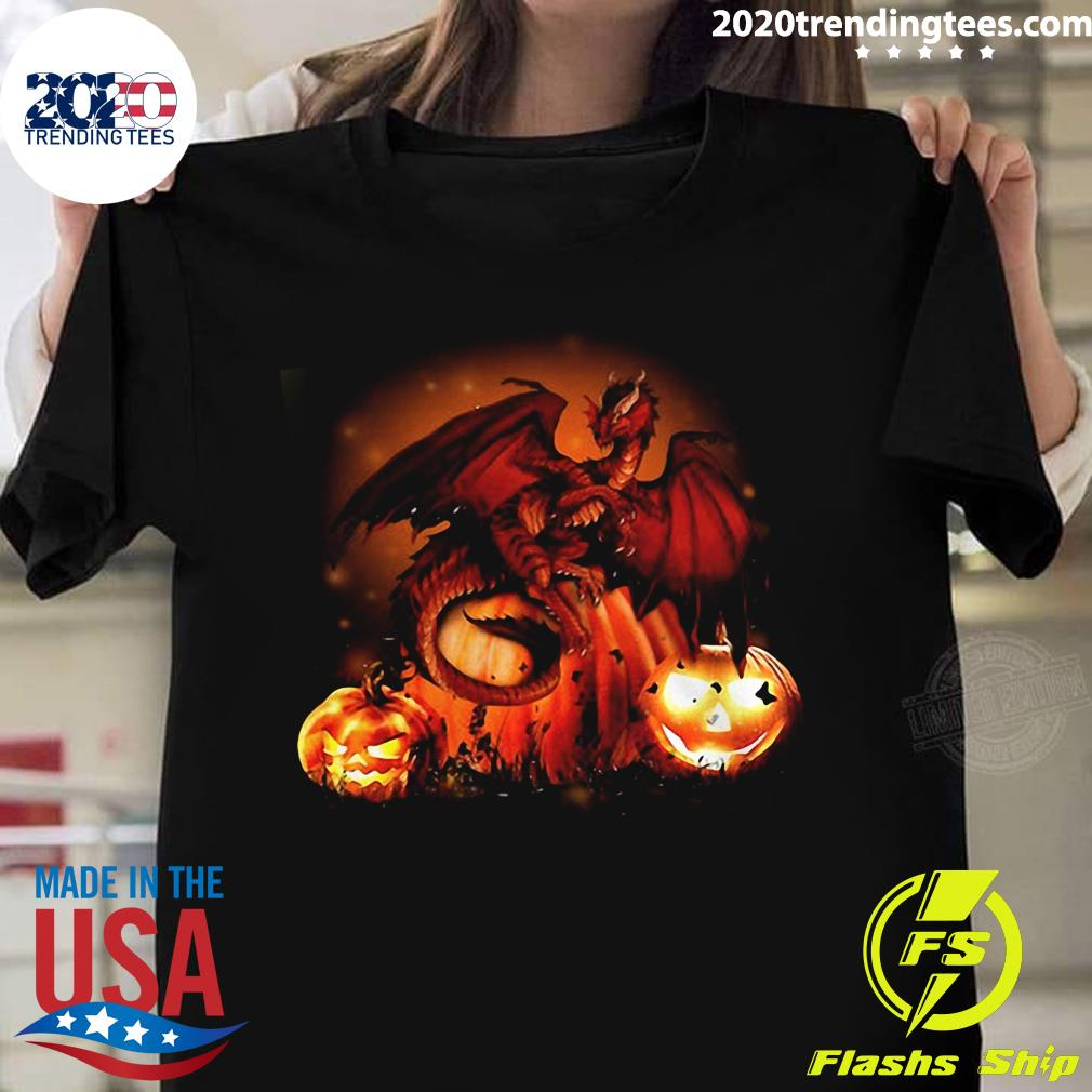 Halloween Dragon Pumkin Shirt
