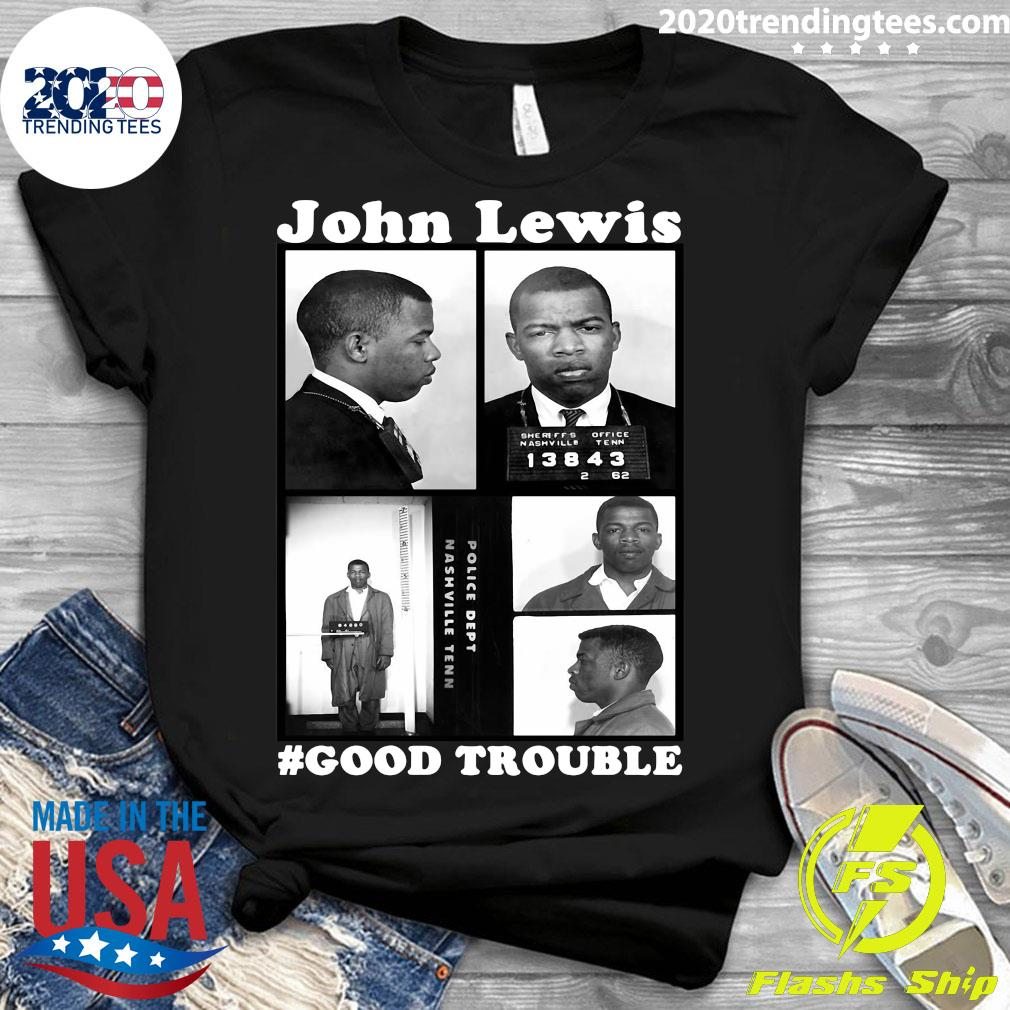 John Lewis Good Trouble Police Dept Nashville Tenn Shirt Ladies tee