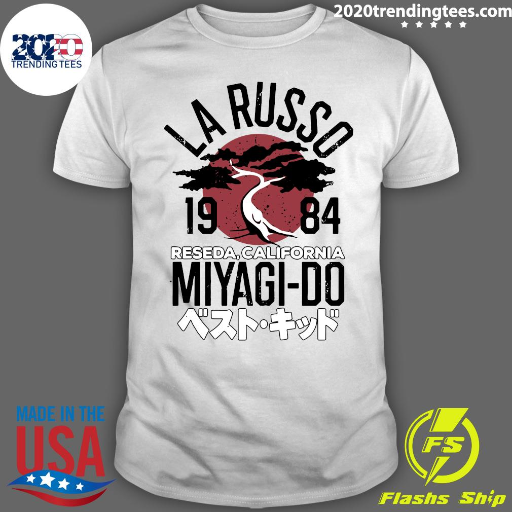 Karate Kid Larusso 1984 Reseda California Miyagi Do Adult Shirt