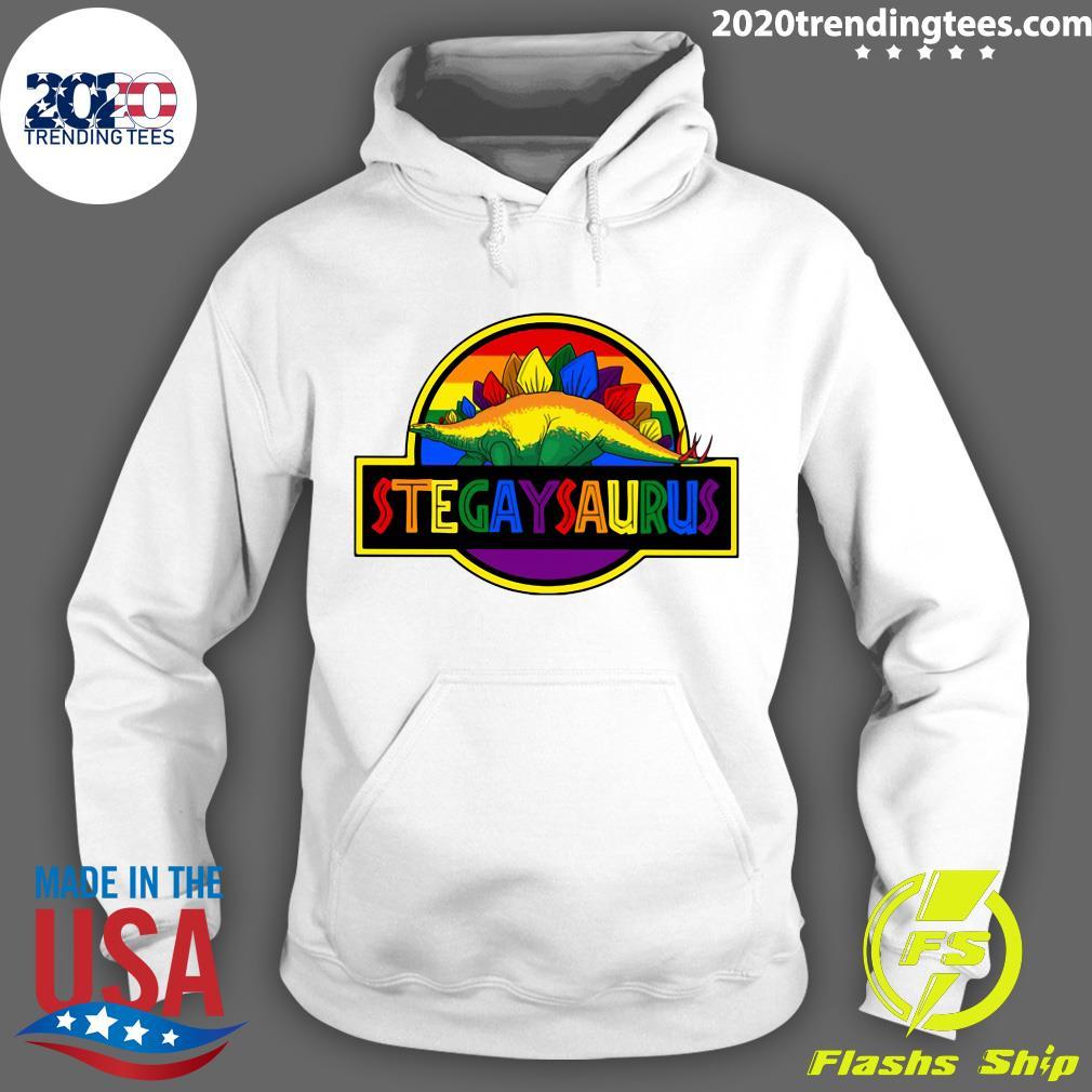LGBT Stegaysaurus Shirt Hoodie