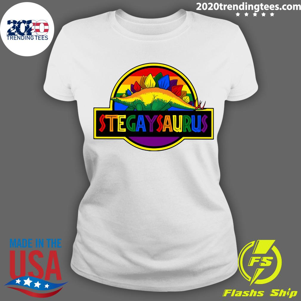 LGBT Stegaysaurus Shirt Ladies tee