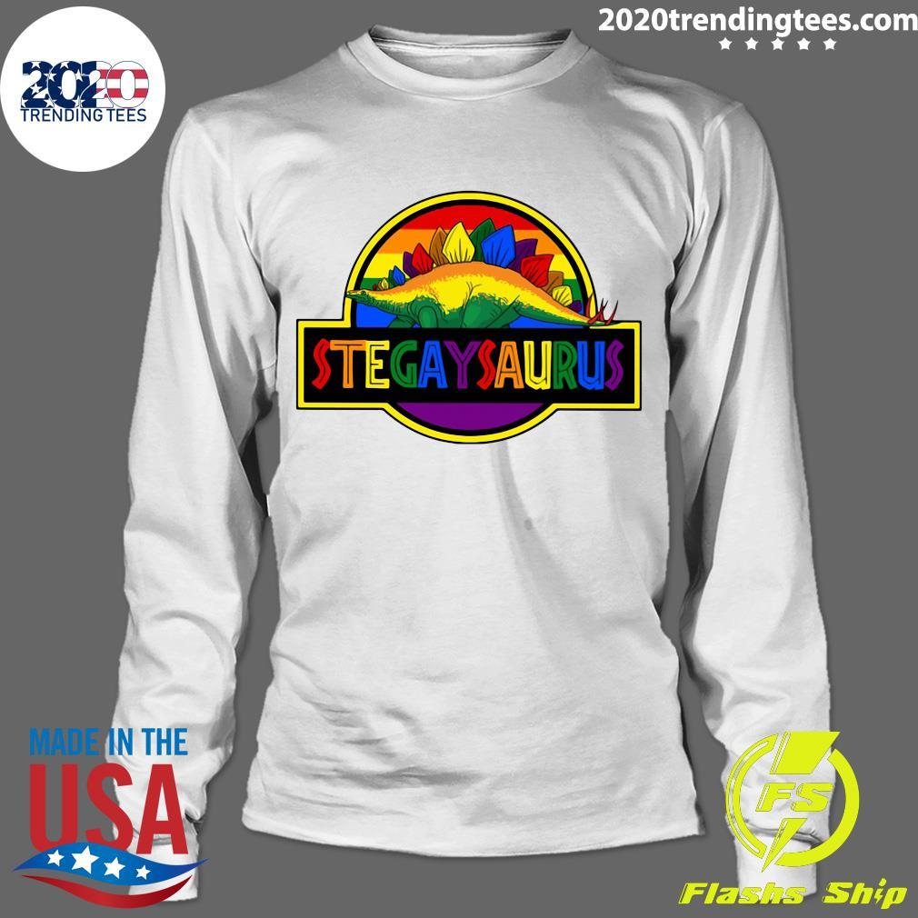 LGBT Stegaysaurus Shirt Longsleeve