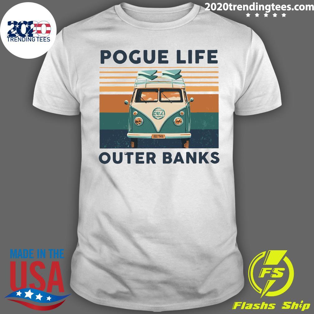 Pogue Life Outer Banks Vintage Retro Shirt