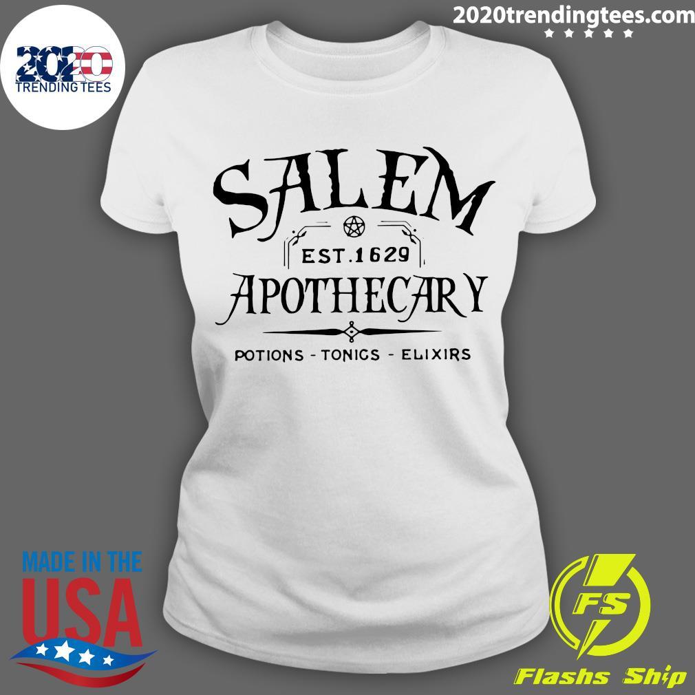 Salem EST 1629 Apothecary Potions Tonics Elixirs Shirt Ladies tee