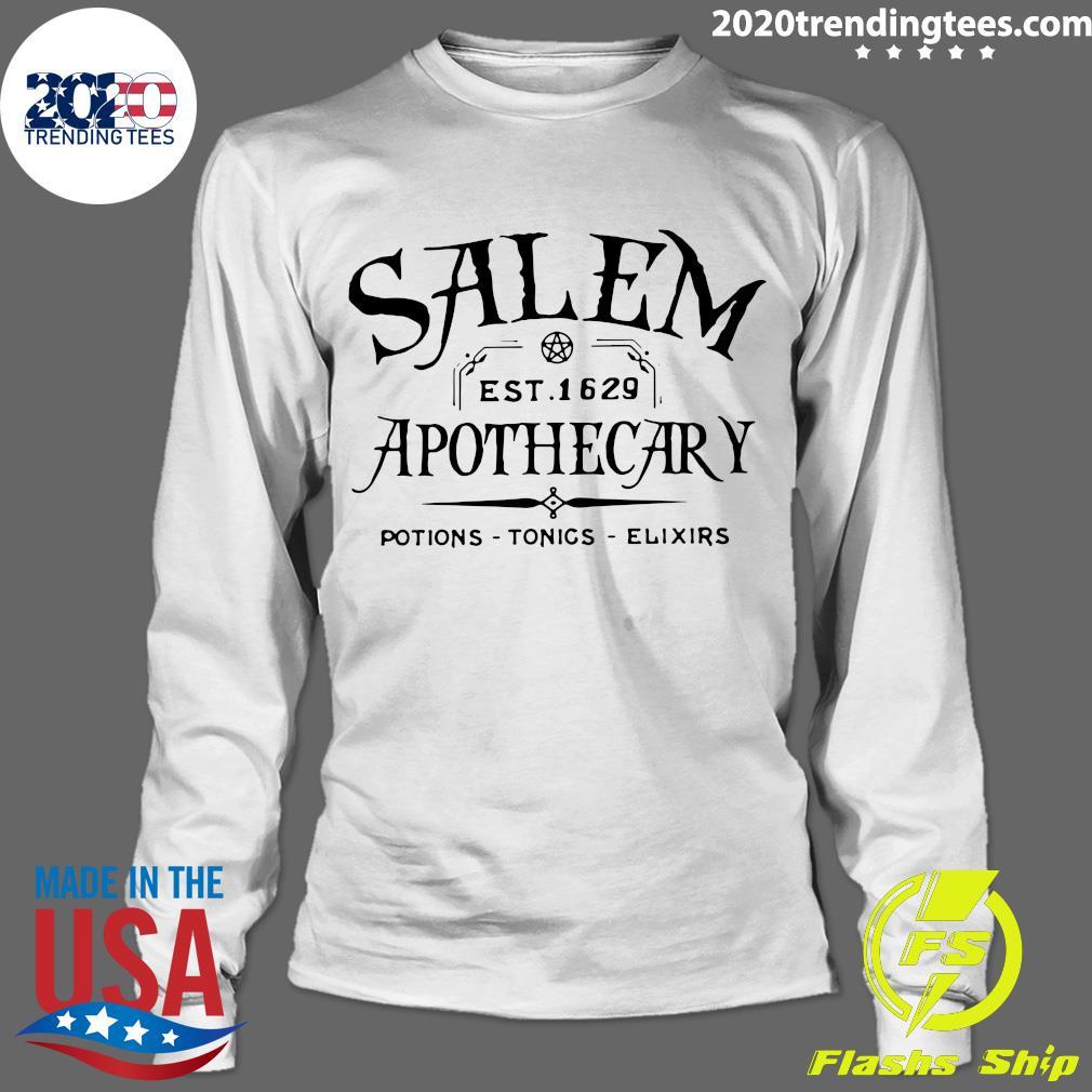 Salem EST 1629 Apothecary Potions Tonics Elixirs Shirt Longsleeve