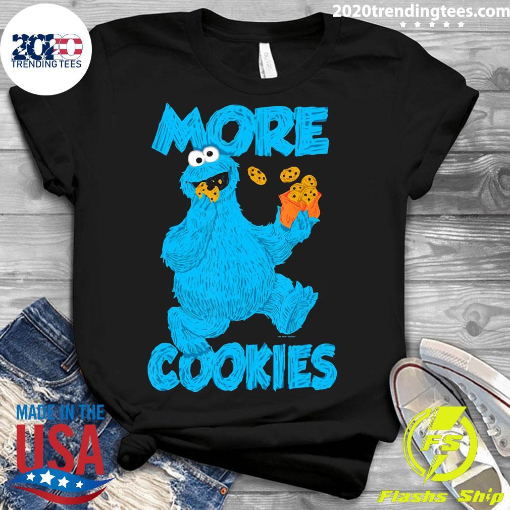 Sesame Street Cookie Monster More Cookies Shirt Ladies tee