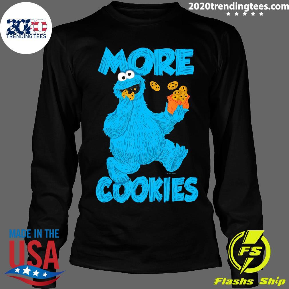 Sesame Street Cookie Monster More Cookies Shirt Longsleeve