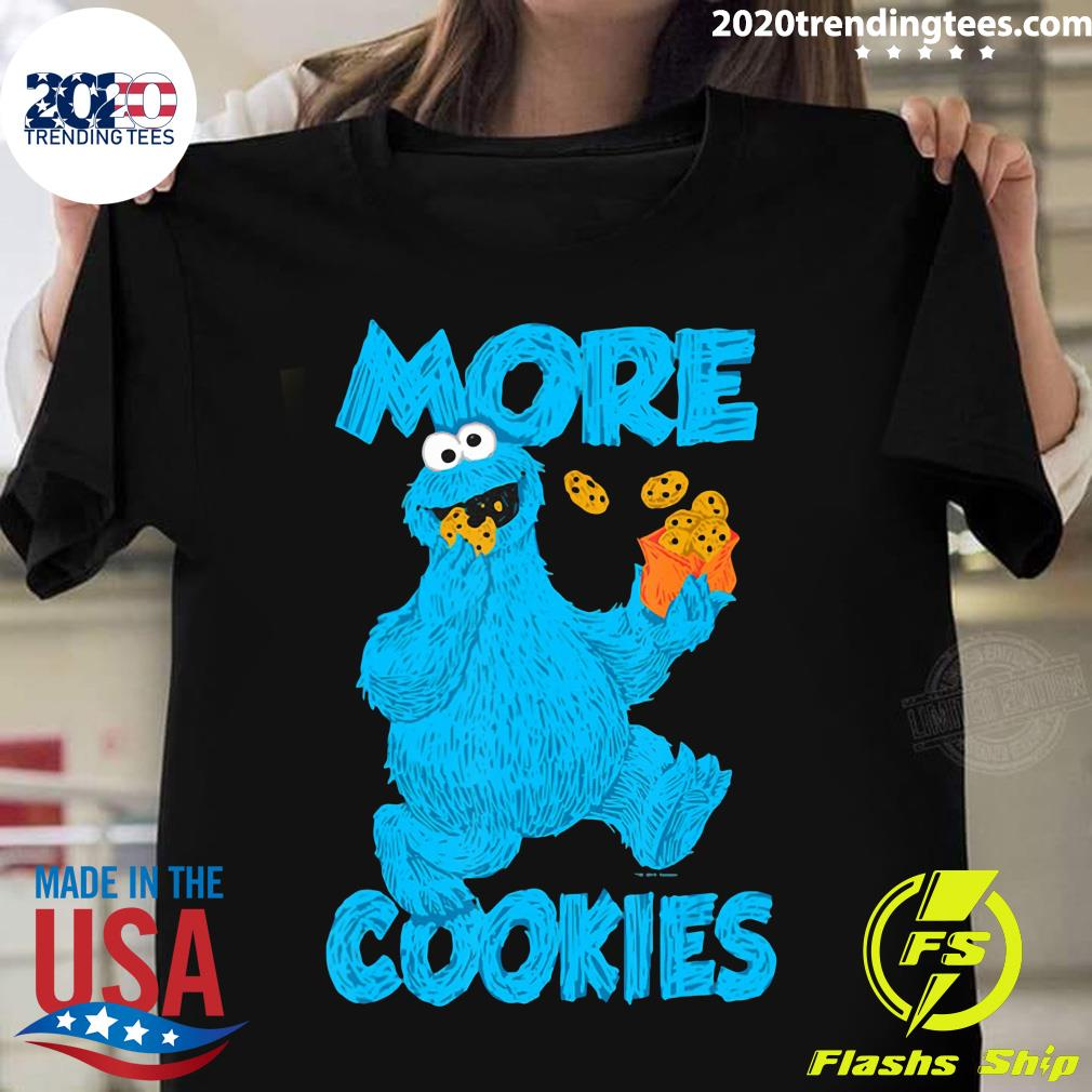Sesame Street Cookie Monster More Cookies Shirt