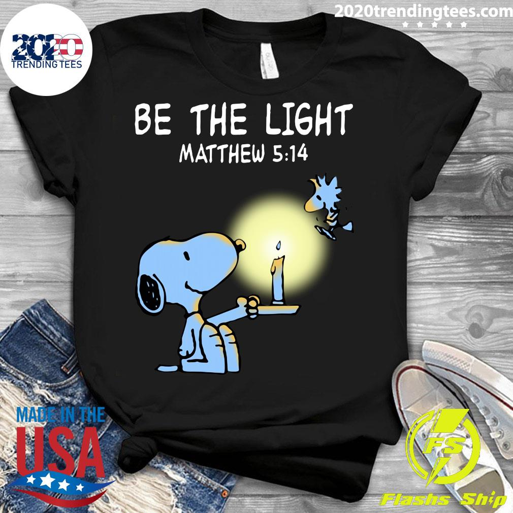 Snoopy and Woodstock Be The Light Matthew 514 Shirt Ladies tee