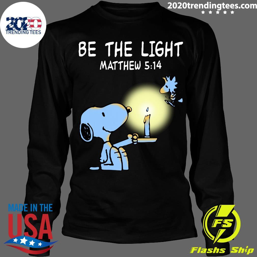 Snoopy and Woodstock Be The Light Matthew 514 Shirt Longsleeve