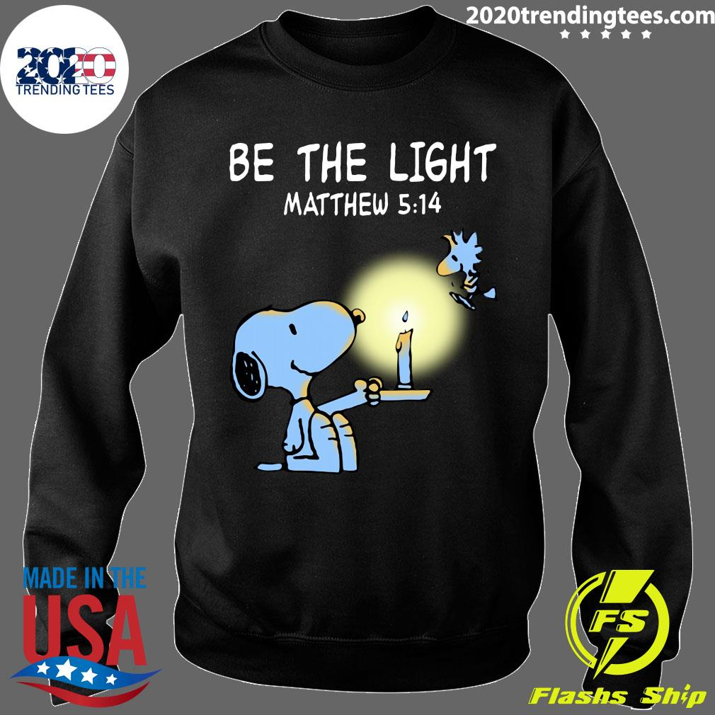 Snoopy and Woodstock Be The Light Matthew 514 Shirt Sweater