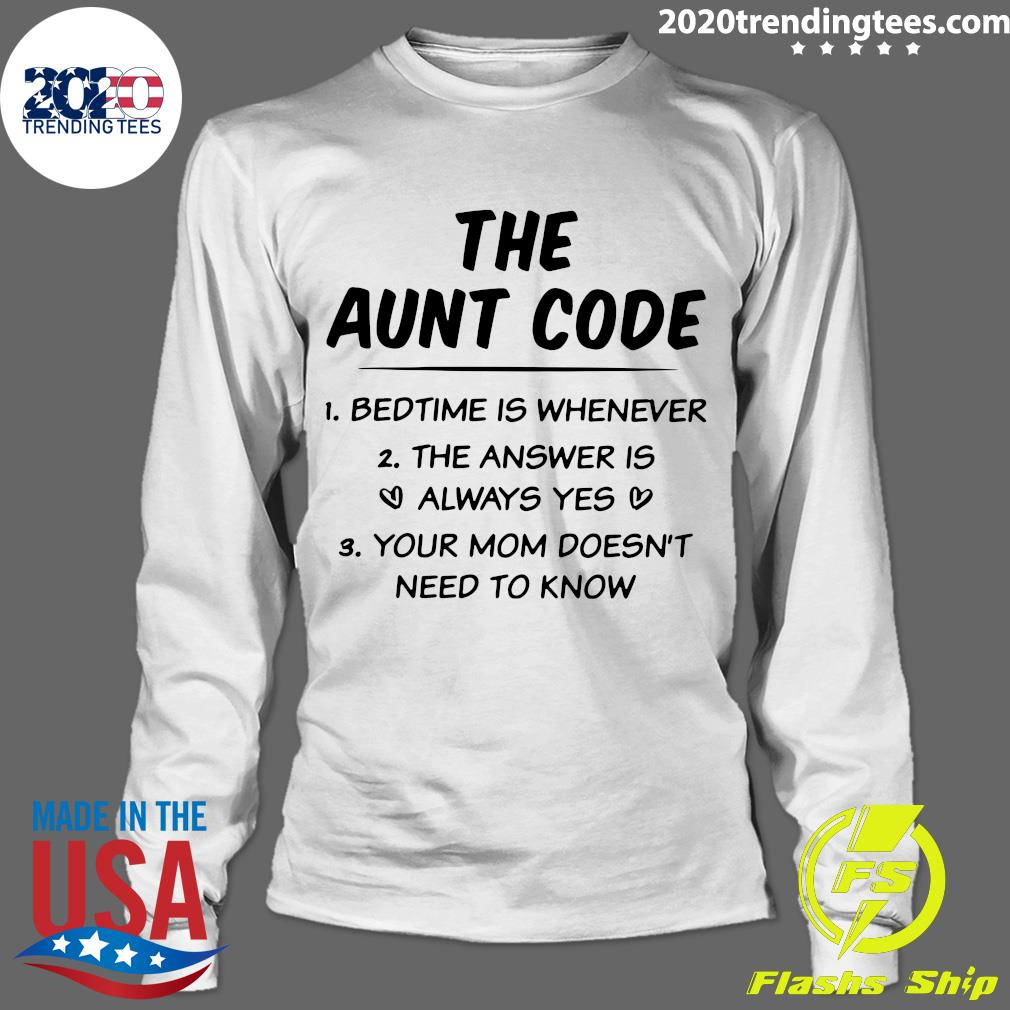 The Aunt Code Shirt Longsleeve