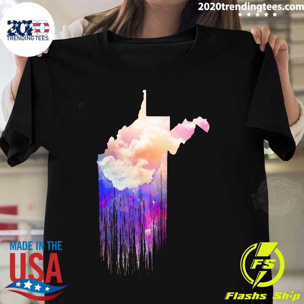 West Virginia Color Cloud Map Shirt