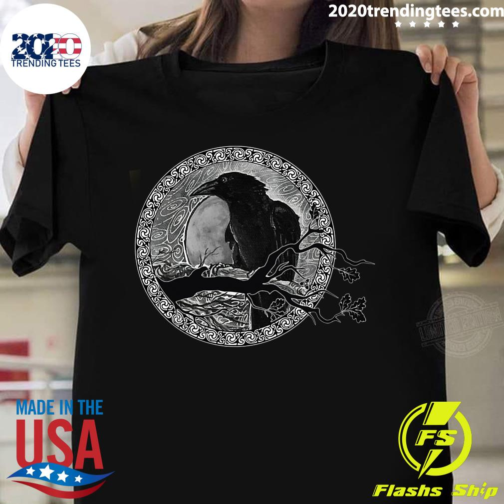 Bird Raven Black Shirt