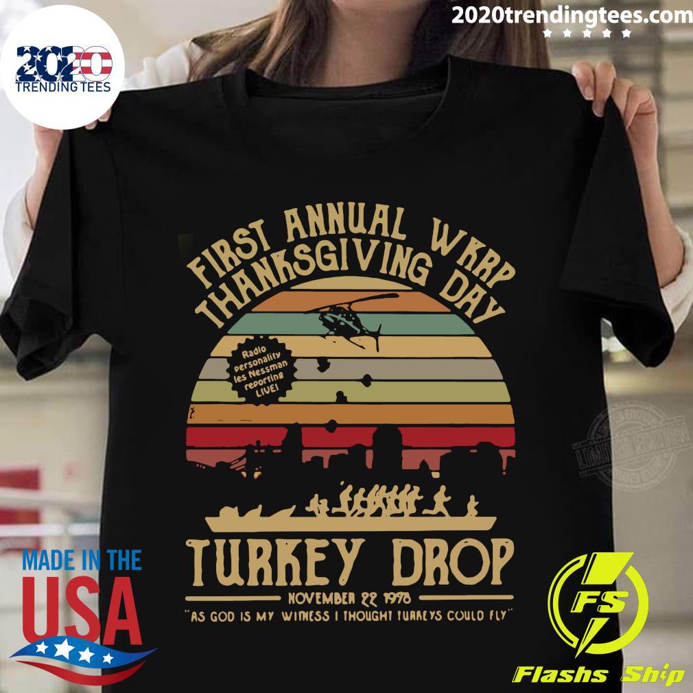 First Annual Wkrp Thanksgiving Day Turkey Drop November 22 1978 Vintage Retro Shirt