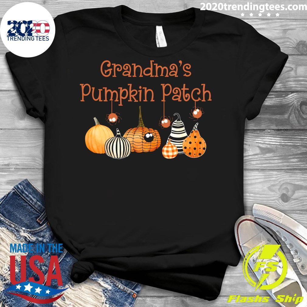 Grandma Pumpkin Patch Halloween Custome Shirt Ladies tee