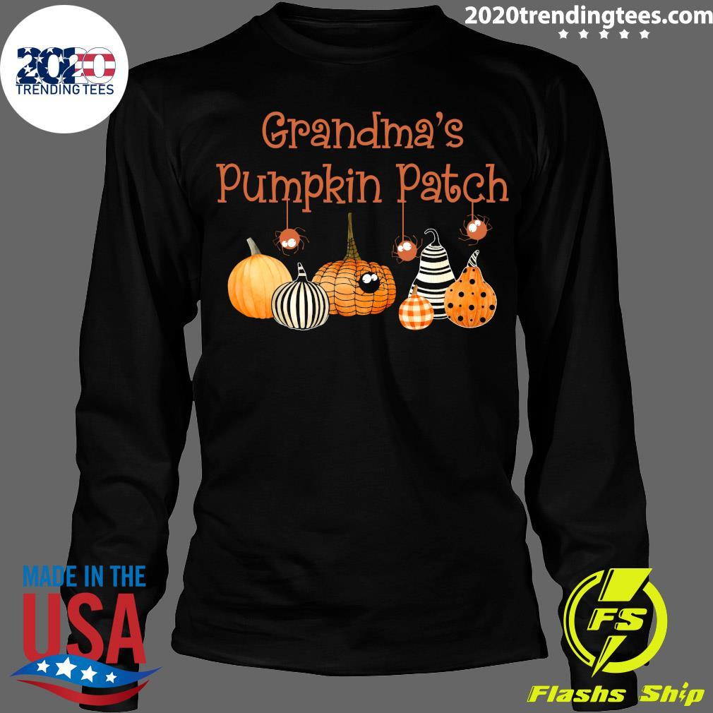 Grandma Pumpkin Patch Halloween Custome Shirt Longsleeve