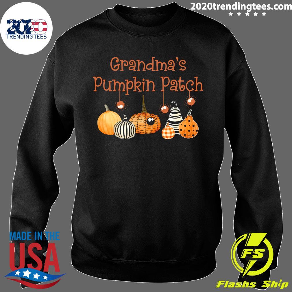Grandma Pumpkin Patch Halloween Custome Shirt Sweater