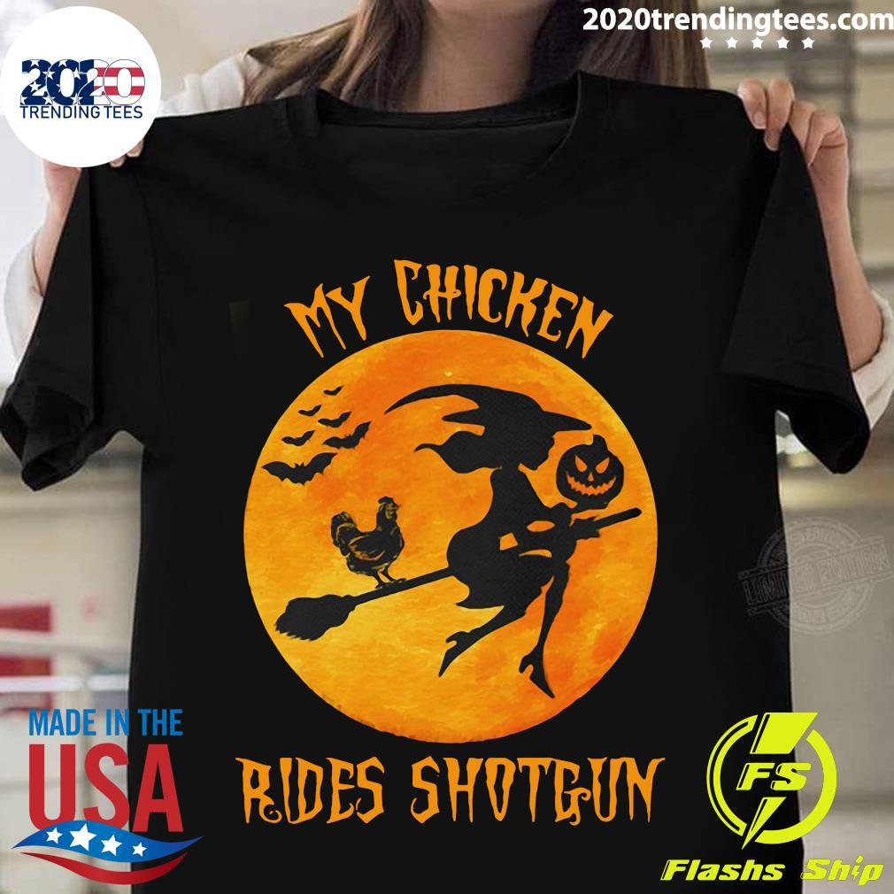 Halloween My Chicken Rides Shotgun Shirt